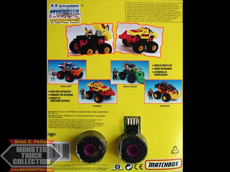 1993 1:43 Monster Wars Cardback.